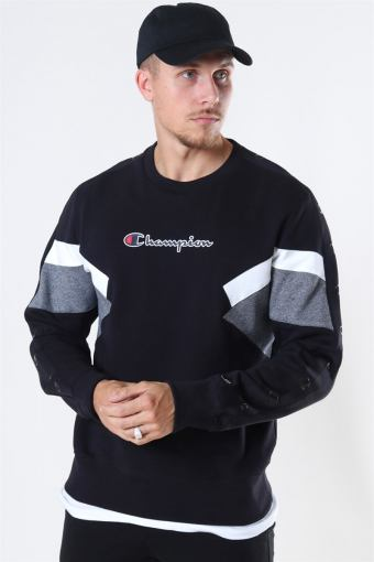 Crew Neck Sweatshirt Black/White/Grey