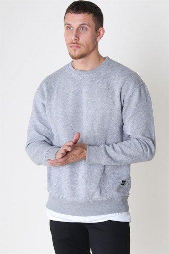 Soft Sweatshirts Crew Neck Light Grey Melange