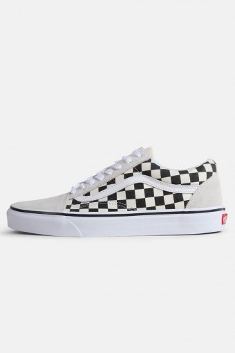 Old Shoeol Checkerbord Sneakers White Black