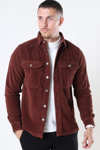 Hagdi Corderoy Overshirt Brown