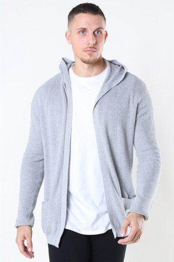 Strik Cardigan Light Grey Melange