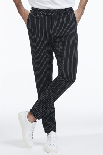 Como Pinstripe Suit Pants Black/ White