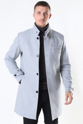 Jack & Jones Melton Uldfrakke Light Grey