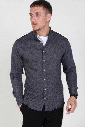 Dean Henley Shirt Dark Grey