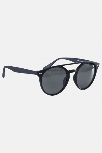 Fashion 1388 Mat Black Solbrille Grey Linse