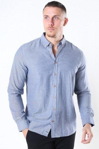 Johan Diego Cotton Shirt Light Navy