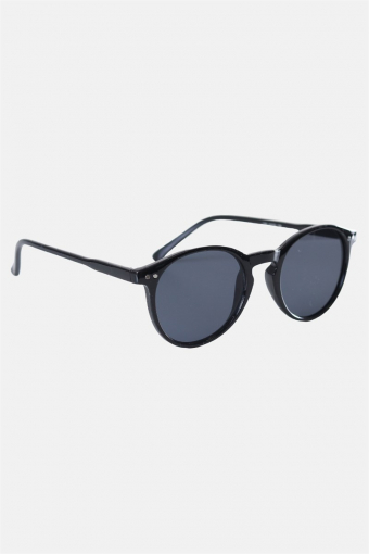 Fashion 1381 Panto Black Solbrille Grey Lens