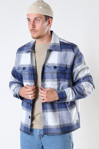 Clipper Big Blue Check LS Shirt Navy Check