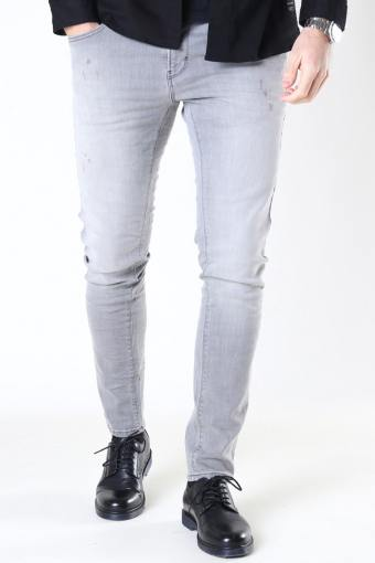 David Slim Stretch Jeans Light Grey Denim