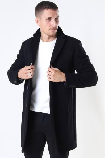 Hagen Uldfrakke Black