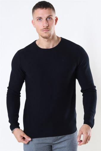 Clean Cut Lauritz Recycled Crew Neuloa Black
