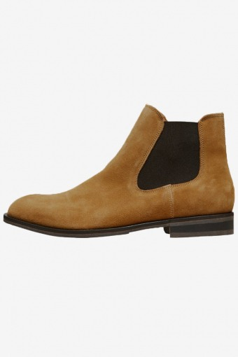Louis Leather Chelsea Boots Cognac