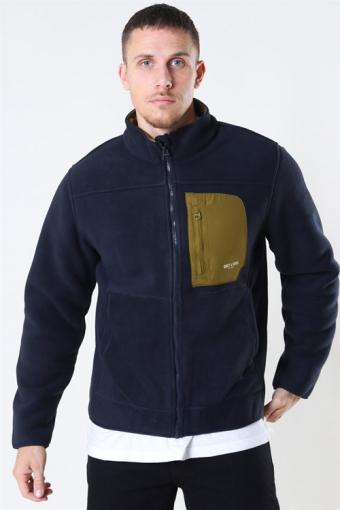 Hike Fleece Jacket Dark Navy/Fire Green
