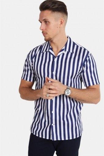 Cuba S/S Gr.78 Shirt White/Dark Blue