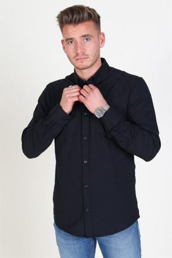 Alvaro LS Oxford Shirt Black