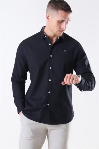 Clean Cut Oxford Plain Shirt Black