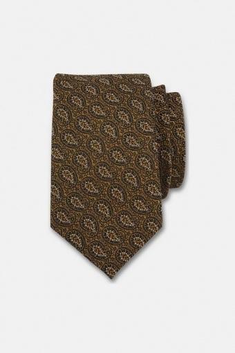 Mønstret slips Guld