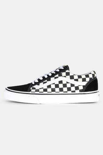 Old Shoeol Primary Check Sneakers Black/White