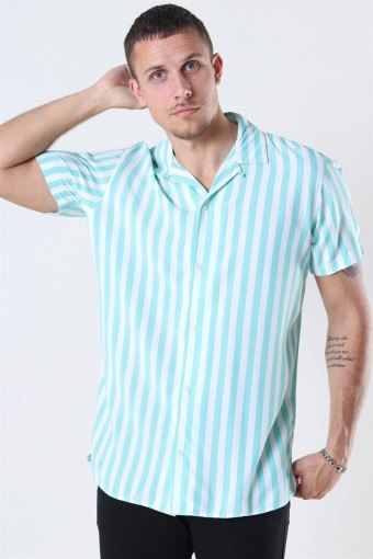 Jack and Jones Tyler Shirt SS ORG Aqua Sky