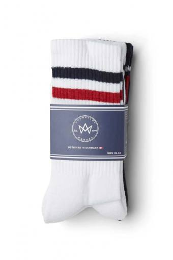Nad 4-pack socks White/Navy/Red