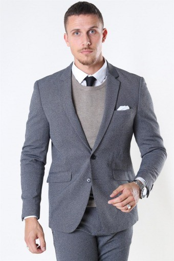 Clean Cut Milano Jersey Blazer Dark Grey Melange