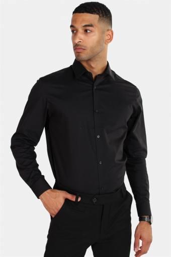 Non Iron Shirt L/S Black