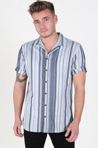 Robert Stripe Shirt S/S Navy Blazer