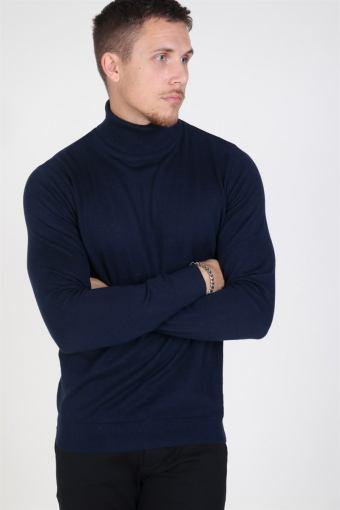 Emil Rullekrave Knit Navy Blazer