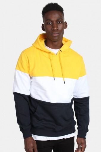 Kelloban Classics TB1870 3-Tone Hoodie Chrome Yellow/White/Navy
