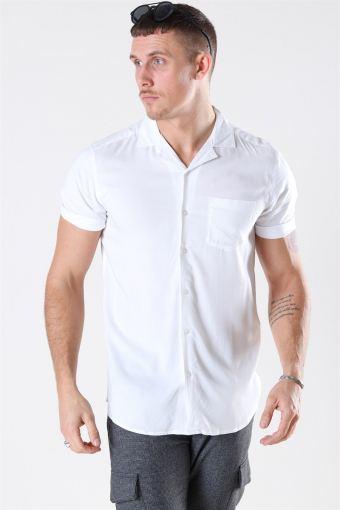 Silo Solid Viscose Shirt White