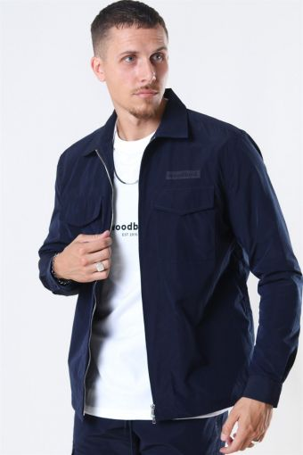 Klarc Zip Shirt Navy