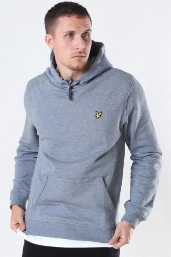 Pullover Hoodie Mid Grey Marl