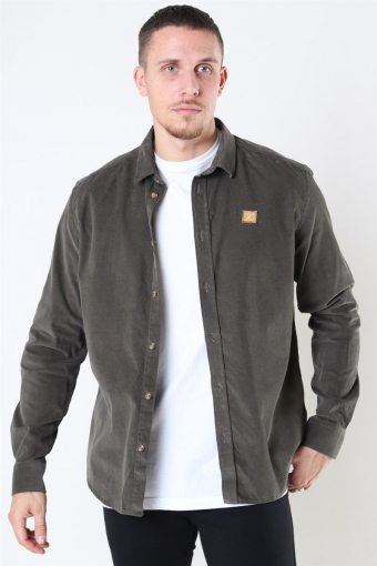Clean Cut Corduroy Shirt L/S Army