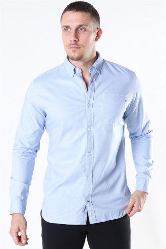 Classic Soft Oxford Shirt LS Cashmere Blue