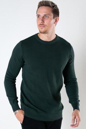 Carlo Cotton knit Bottle Green