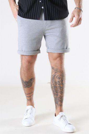 Clean Cut Milano Jersey Shorts Light Grey Melange