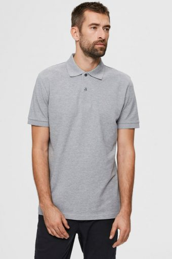 SLHNEO SS POLO S NOOS Medium Grey Melange