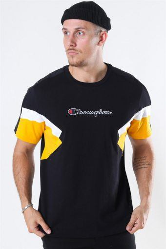 Crewneck T-Shirt Black/Yellow/White