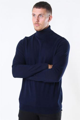 Berg Rullekrave Strik Navy Blazer
