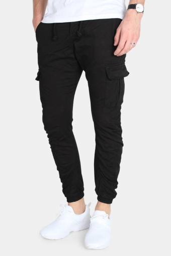TB1268 Cargo Jogging Pants Black