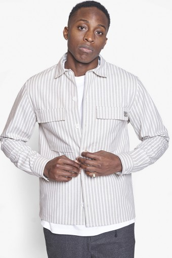 Prize Stripe Shirt Ecru-White
