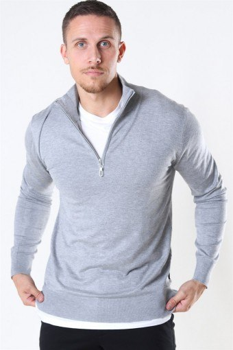 Argento Half Zip Neuloa Light Grey Mix