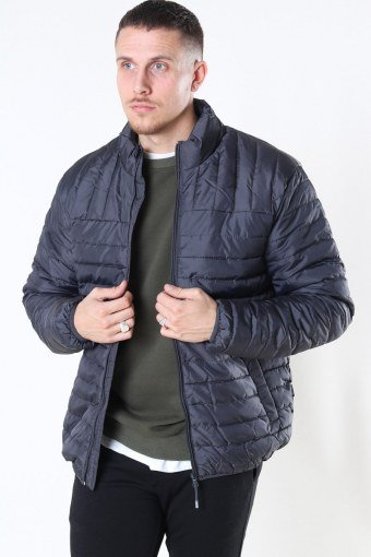 Paul Quilted Highneck Takki Grey Pinstripe