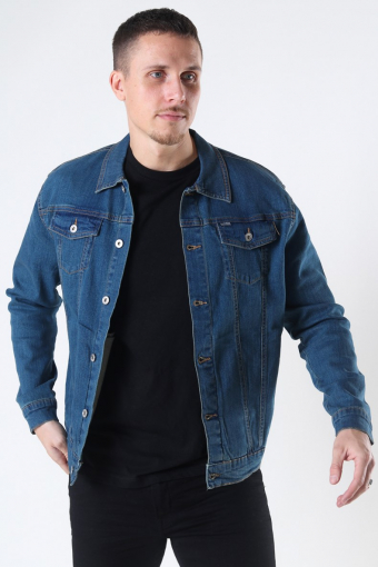 Peyton Denim Takki Dark Village Blue Denim