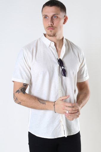 Cotton / Linnen Shirt S/S Ecru