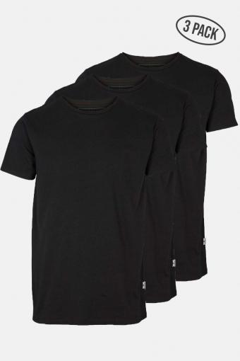 Elon Recycled cotton 3-pack t-shirt Black/Black/Black