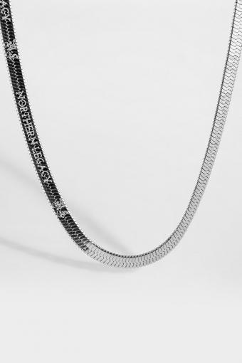 Herringbone Ketting Silver