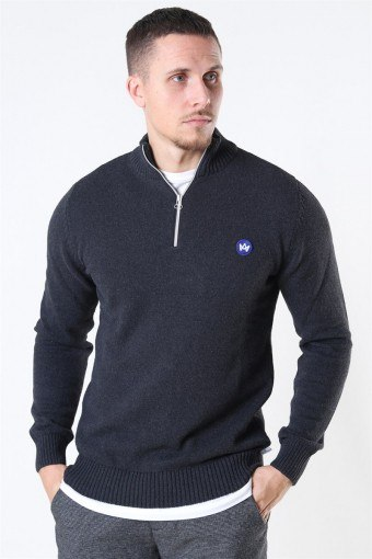 Liam Half Zip Recycle Neuloa Charcoal