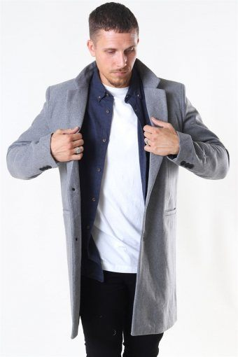 Maximus Wool Frakke Light Grey Melange