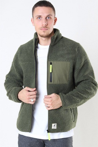 Hugh Fleece Jakke Beetle Green